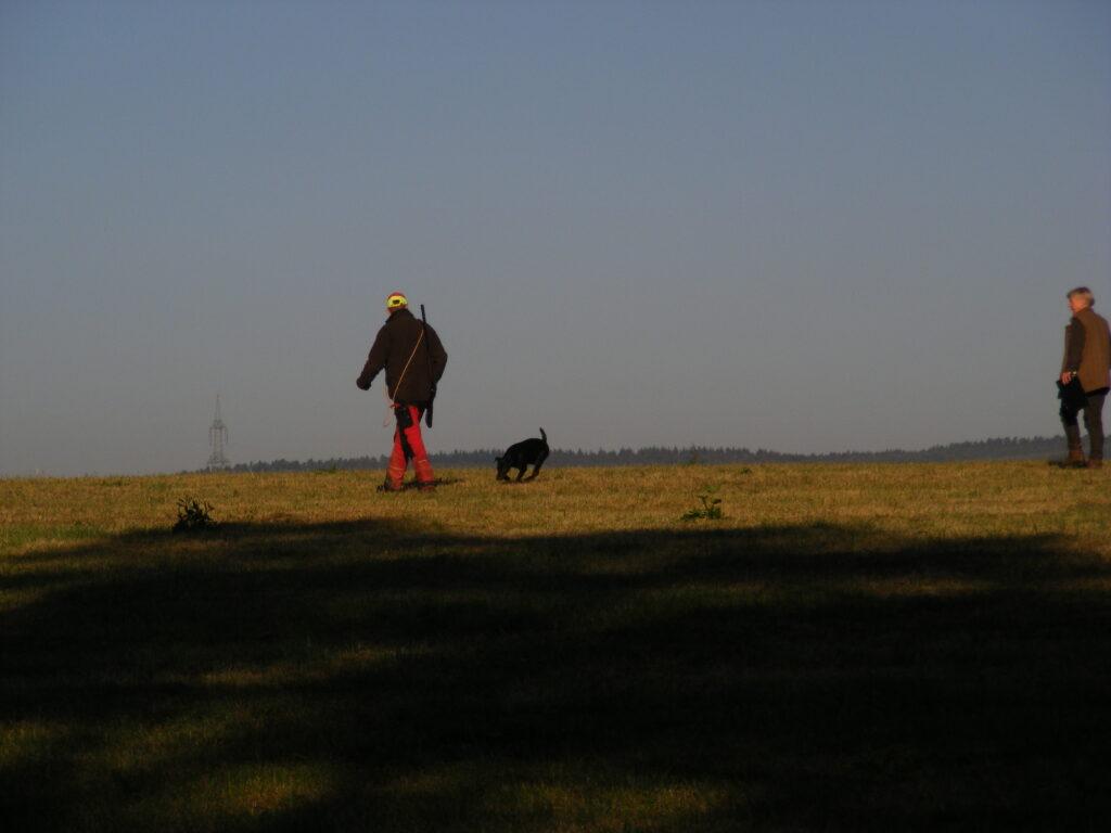 Martin Obach mit Terrier Amy